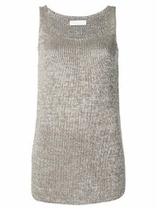Fabiana Filippi longline knitted tank top - Silver