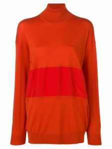 Chloé turtle-neck panelled sweater - Red
