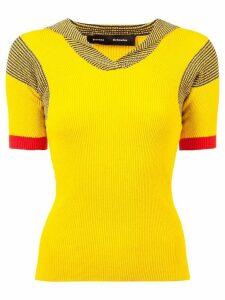 Proenza Schouler Terry Boucle Knit Top - Yellow
