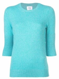 Barrie short-sleeve fitted sweater - Blue