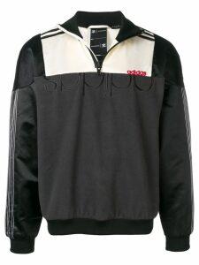 Adidas Originals By Alexander Wang colour-block zip sweatshirt - Black