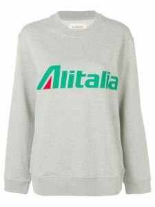 Alberta Ferretti Alitalia sweatshirt - Grey