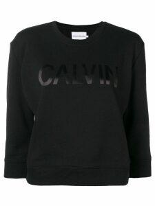 Calvin Klein Jeans cropped logo print sweatshirt - Black