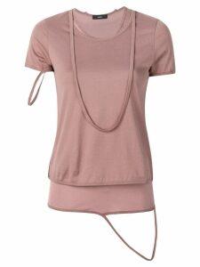 Diesel Layered T-Shirt - Pink