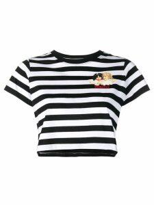 Fiorucci striped logo T-shirt - Black