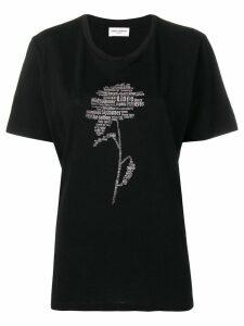 Saint Laurent flower print T-shirt - Black