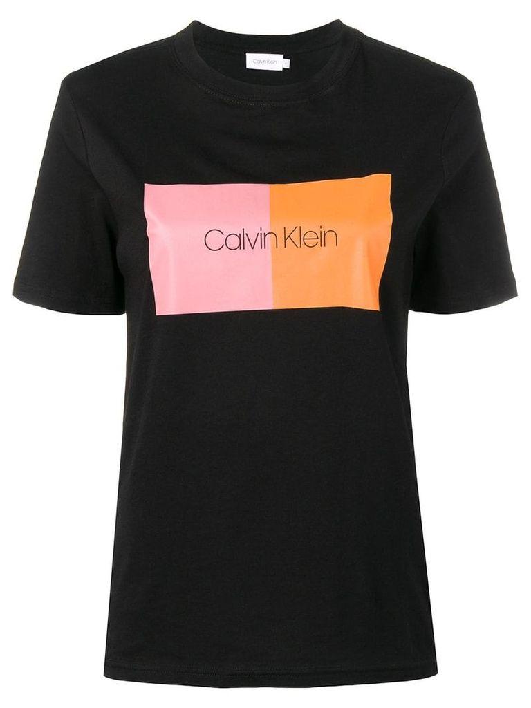Calvin Klein colour block T-shirt - Black