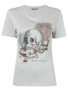 Alexander McQueen seashell skull print T-shirt - Grey