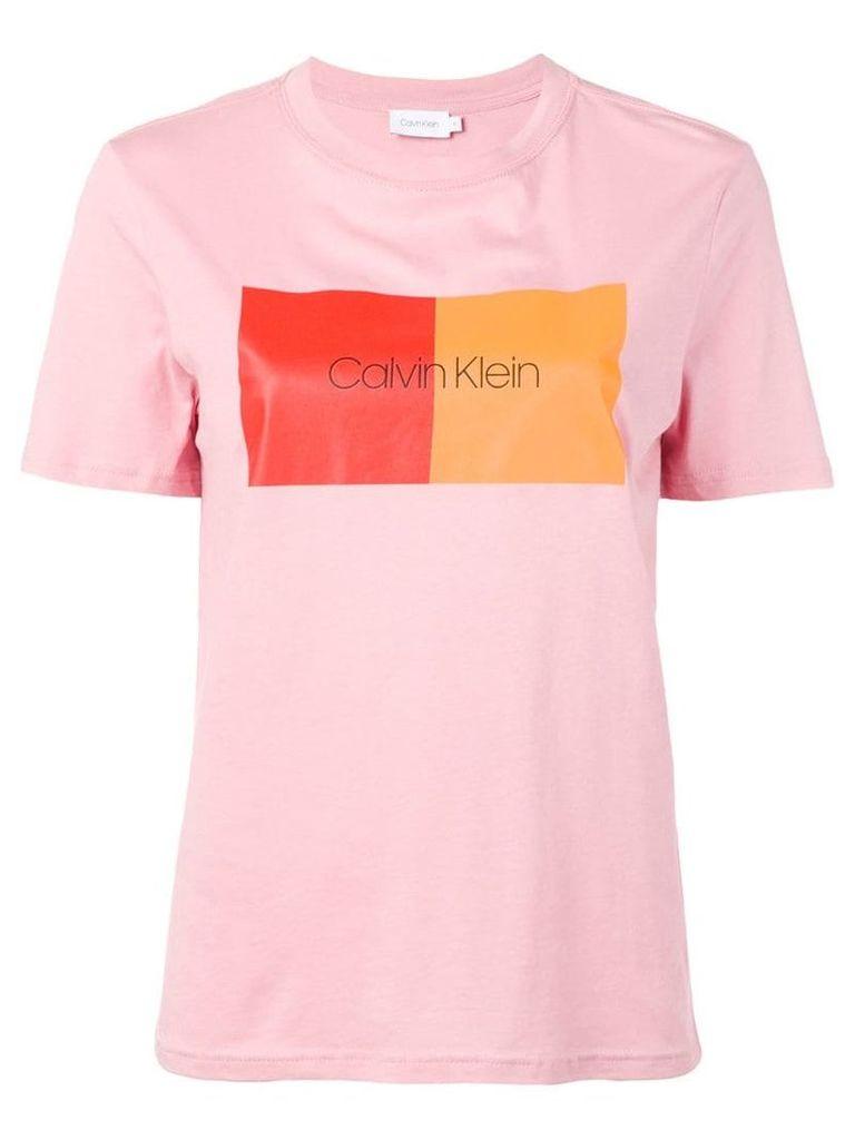 Calvin Klein colour block T-shirt - Pink