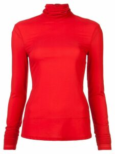 Sally Lapointe roll neck top - Red