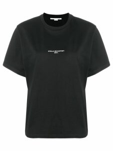 Stella McCartney logo print T-shirt - Black