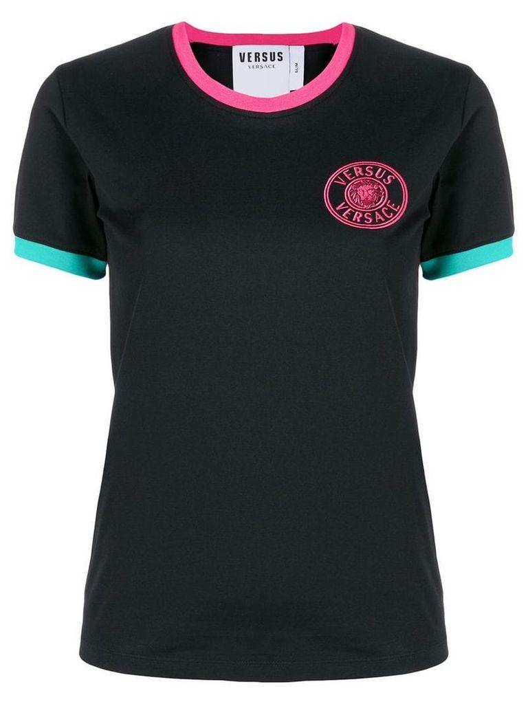 Versus embroidered logo T-shirt - Black