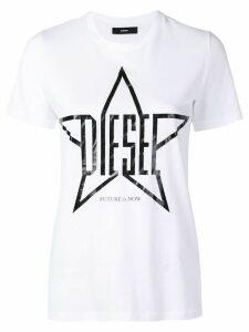 Diesel logo star print T-shirt - White