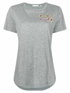 Chinti & Parker embroidered short-sleeve top - Grey