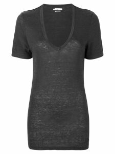 Isabel Marant Étoile plunge neck T-shirt - Grey