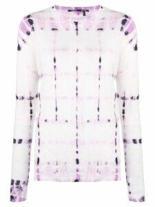 Proenza Schouler Tie Dye Long Sleeve T-Shirt - Pink