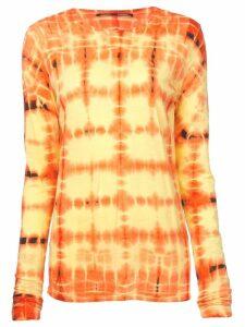 Proenza Schouler Tie Dye Long Sleeve T-Shirt - Yellow