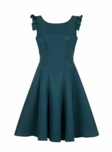 **Chi Chi London Teal Blue Skater Dress, Teal