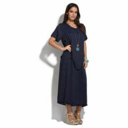 Couleur Lin  Dress  women's Long Dress in Blue