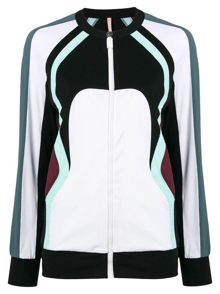 No Ka' Oi colour block zip jacket - White