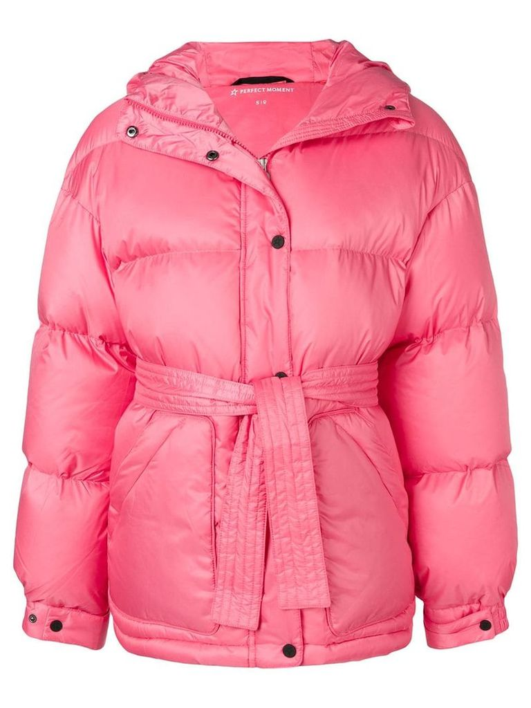 Perfect Moment oversized parka jacket - Pink
