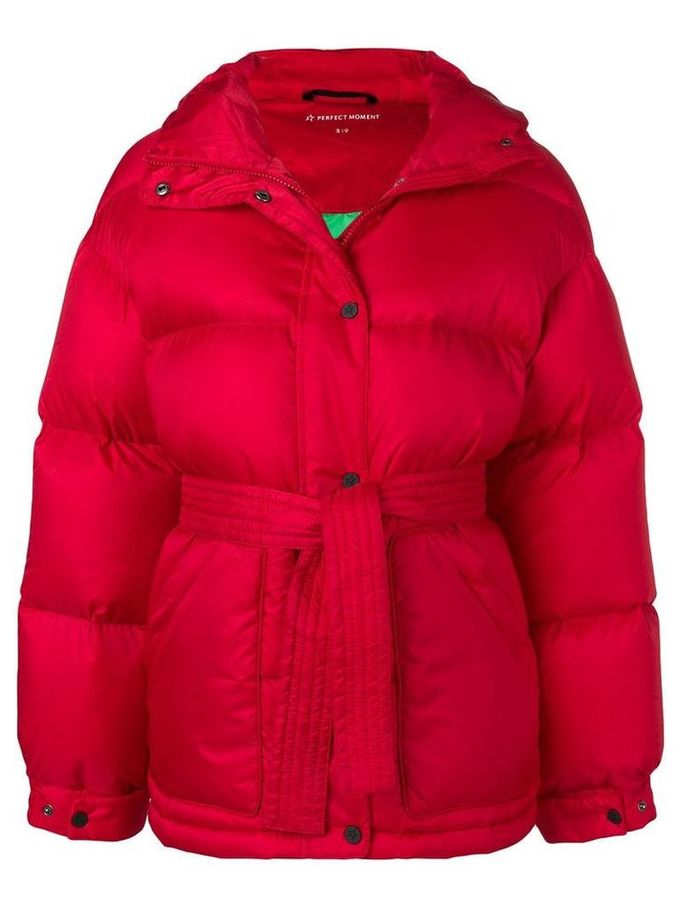 Perfect Moment oversized parka jacket - Red