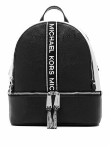 Michael Michael Kors logo stripe backpack - Black