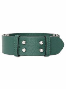 Burberry The Medium Belt Bag Grainy Leather Belt - Green