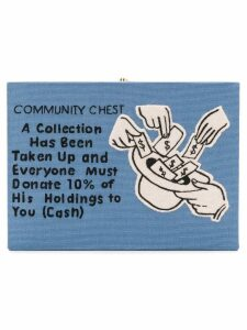 Olympia Le-Tan Community Chest clutch bag - Blue