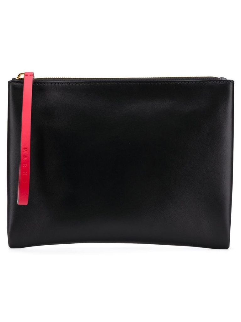 Marni colour block pouch - Black