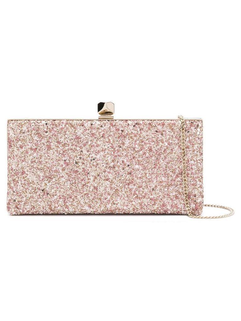 Jimmy Choo Celeste S glitter clutch - Pink