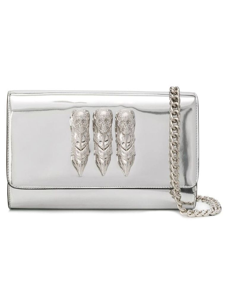 Philipp Plein It Is For You clutch - Silver