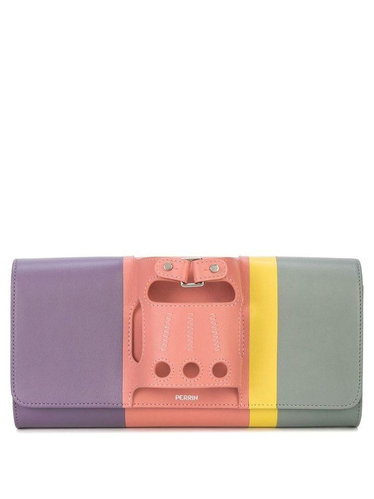 Perrin Paris Le Cabriolet rainbow clutch - Multicolour