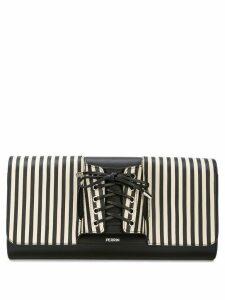 Perrin Paris Le Corset striped clutch - Black