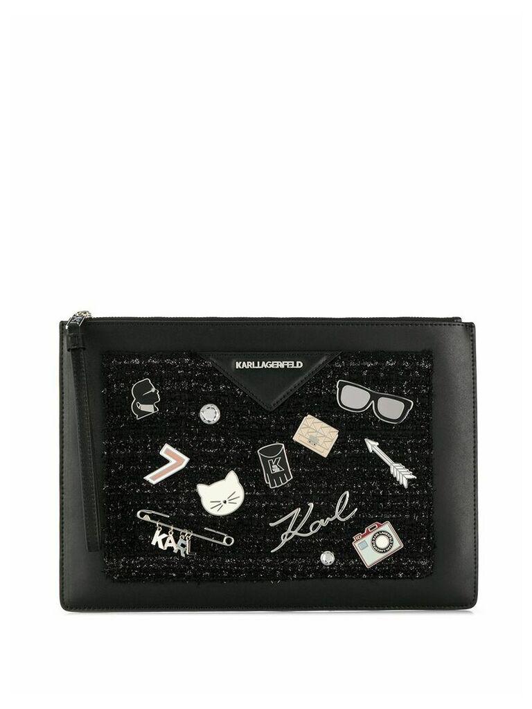 Karl Lagerfeld K/Klassik pins pouch - Black