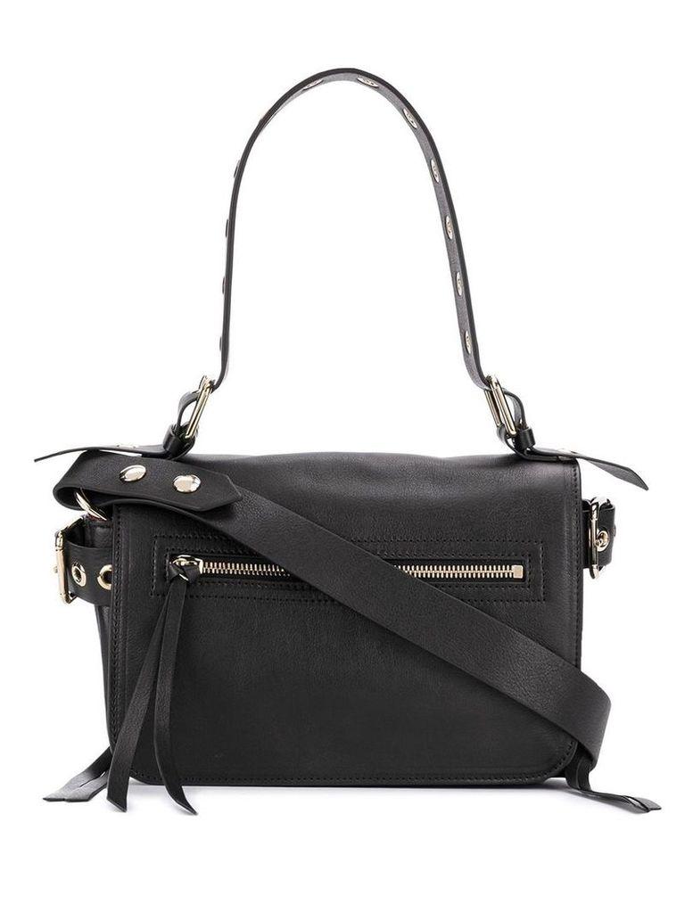 Red Valentino RED(V) zip front shoulder bag - Black