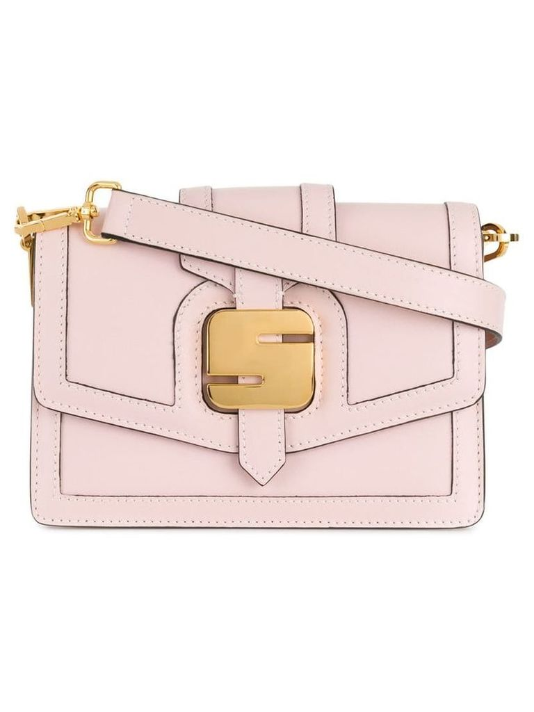 Serapian metal detail shoulder bag - Pink