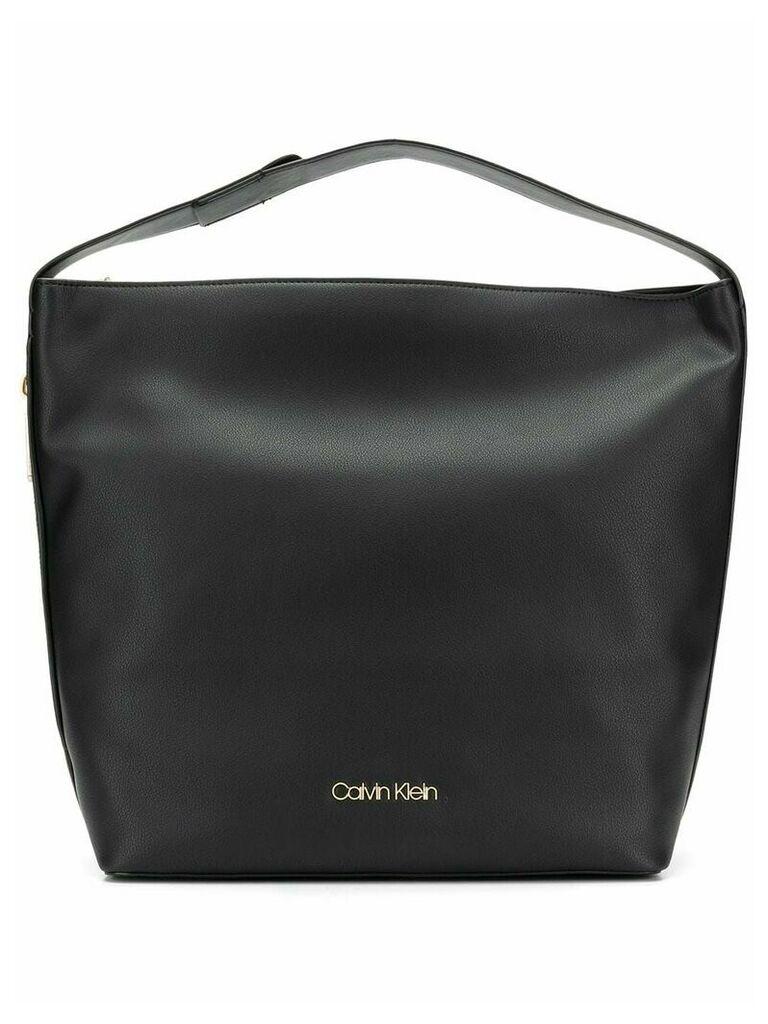 Calvin Klein 205W39nyc large logo plaque shoulder bag - Black