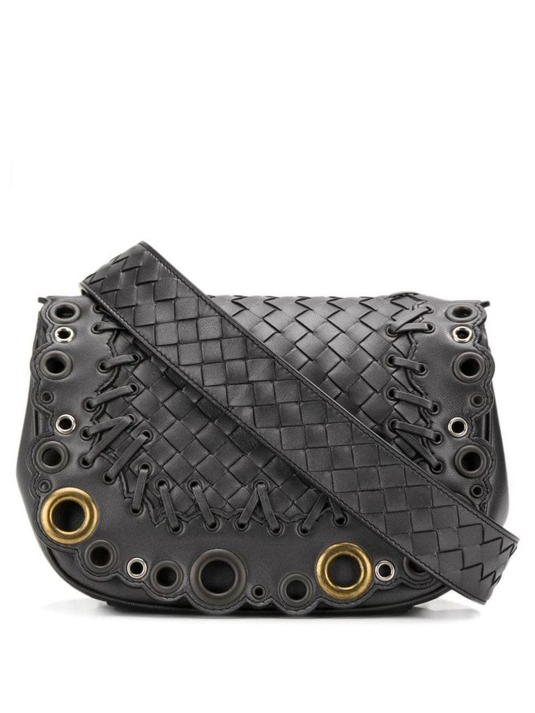 Bottega Veneta Intrecciato shoulder bag - Metallic