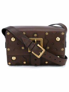 Valentino studded shoulder bag - Brown