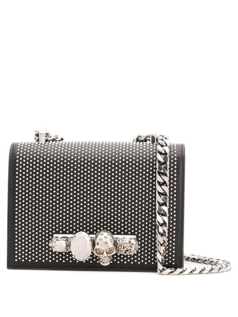 Alexander McQueen studded shoulder bag - Black