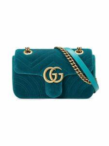 Gucci GG Marmont velvet mini bag - Blue