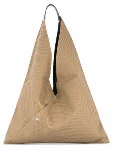 Cabas large Triangle tote - Brown