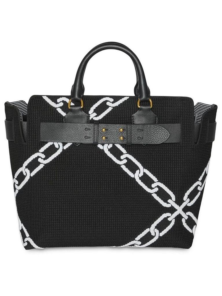 Burberry The Medium Knitted Link Belt Bag - Black