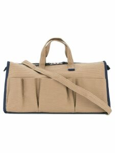 Cabas multi-pocket tote bag - Neutrals
