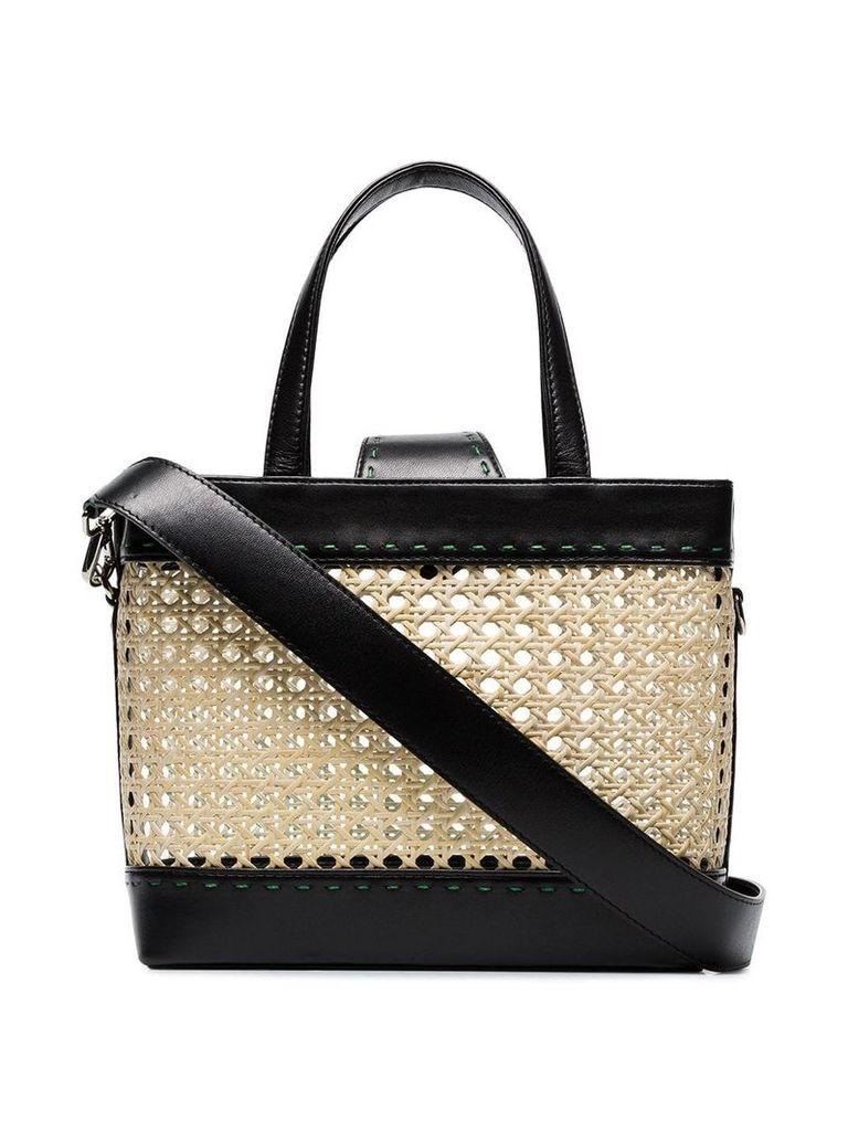 Mehry Mu black Fey rattan basket bag