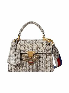 Gucci Queen Margaret small snakeskin top handle bag - Neutrals