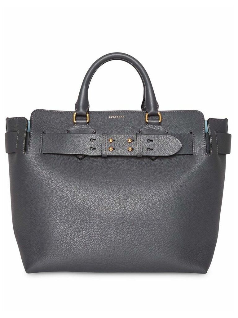 Burberry The Medium Leather Belt Bag - Grey