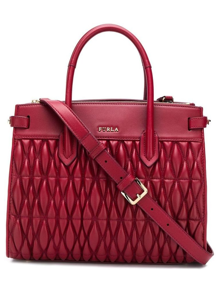 Furla medium Pin quilted tote - Red