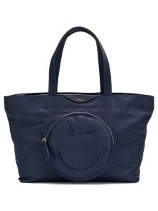 Anya Hindmarch Large Chubby Smiley Tote - Blue